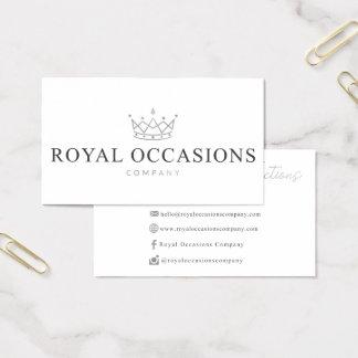 Beställnings- visitkortar för kungliga tillfällen visitkort