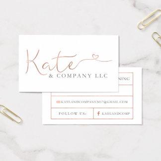 Beställnings- visitkortar: Kate & Företag Visitkort