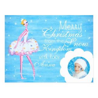 Beställnings- vykort för snödrottningjul
