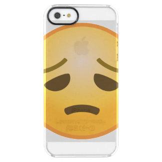 Besvikna Emoji Clear iPhone SE/5/5s Skal