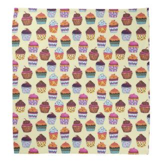 Besynnerligt färgrikt muffinsillustrationmönster scarf