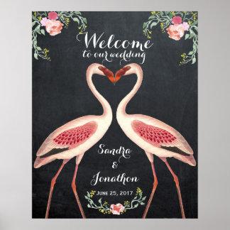 besynnerligt flamingovälkomnandebröllop poster