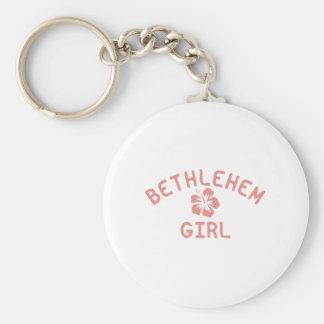 Bethlehem rosaflicka nyckel ring