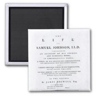Betitla sidan, från 'livet av Samuel Johnson Magnet