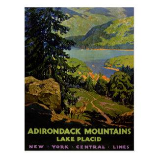 Beträffande Adirondack bergLake Placid vintage Vykort