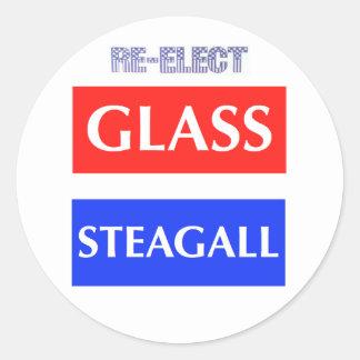 Beträffande-Utvalda Glass Steagall Runt Klistermärke