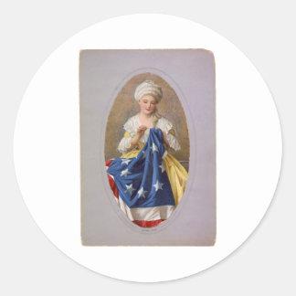 Betsy Ross c1908, G. Liebscher Runt Klistermärke