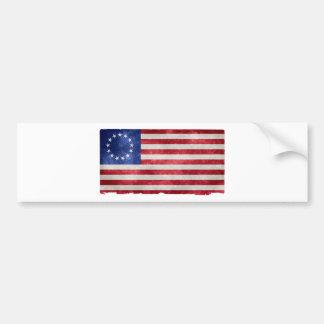 Betsy Ross flaggaGrunge Bildekal