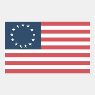 Betsy Ross Rektangulärt Klistermärke