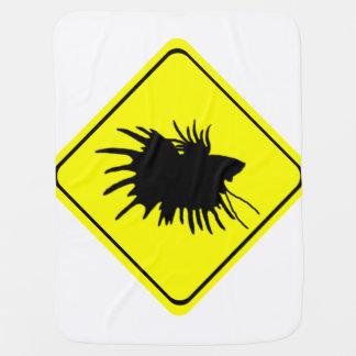 Betta varning undertecknar den Siamese Bebisfilt