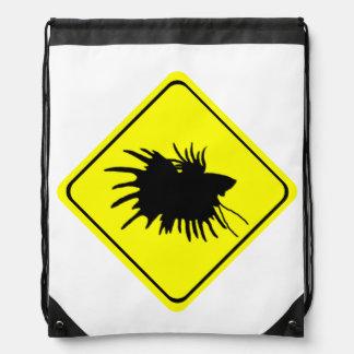 Betta varning undertecknar den Siamese Gympapåse