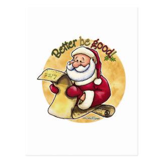 Better är bra - Santas listar Vykort