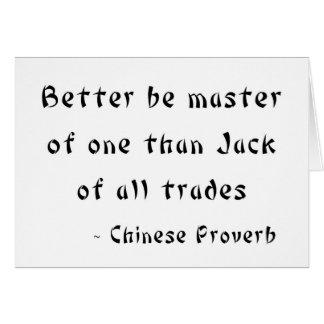 Better är ledar- av en än handel för jack allra hälsningskort