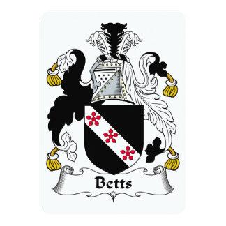 Betts familjvapensköld 12,7 x 17,8 cm inbjudningskort