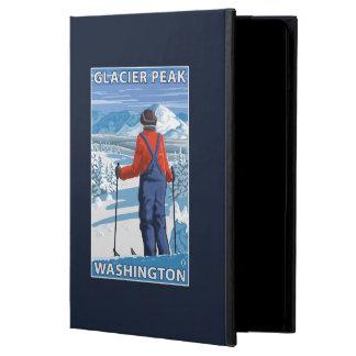 Beundra för Skier - maximal glaciär, Washington iPad Air Skydd