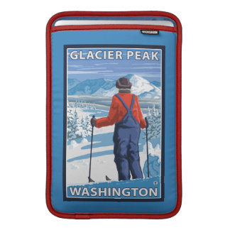 Beundra för Skier - maximal glaciär, Washington MacBook Air Sleeve