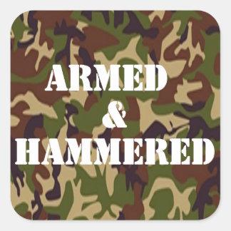 Beväpnat och bultat fyrkantigt klistermärke