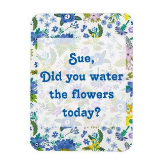 Bevattna för blåttträdgården för blommor | magnet