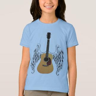 Bevingad akustisk gitarr tröjor