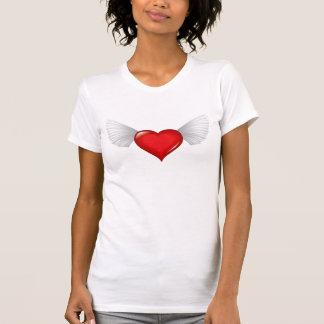 Bevingad hjärta t shirts