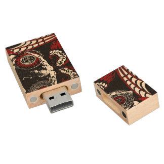 Bevingad stupad ängelUSB, 8gb, rektangel Trä USB-minne