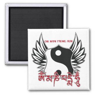 Bevingad Yin Yang Mantra Kylskåps Magneter