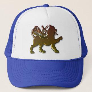 Bevingat lejont lock för royal truckerkeps