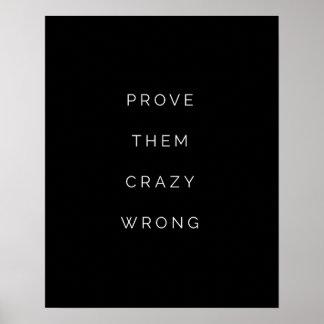 Bevisa dem den fla Motivational Poster