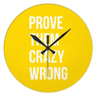 Bevisa sätta en klocka på gult för