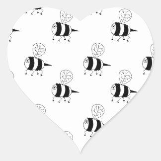 bi för bi 2 hjärtformat klistermärke