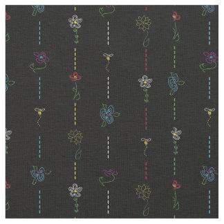 Bi- och blommatyg tyg