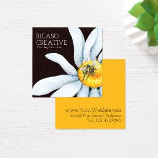 Bi på vattenfärg för blommaanpassningsbarpersonlig fyrkantigt visitkort