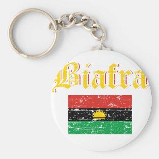 Biafra flagga rund nyckelring