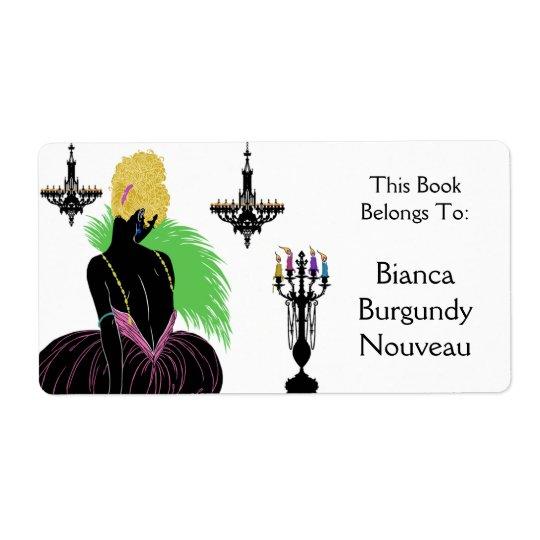 Bianca i svartvitt - bokägarmärke fraktsedel