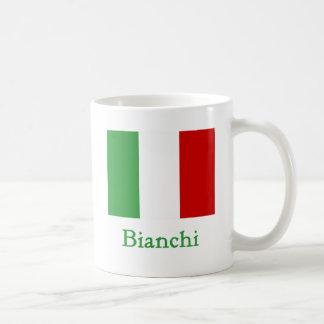 Bianchi italiensk flagga kaffe kopp
