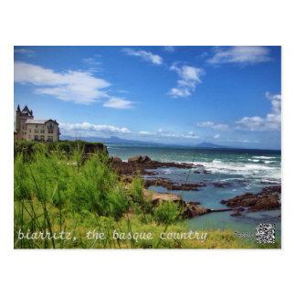Biarritz det baskiska landet vykort