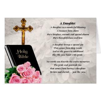 Bibel- & rodesign - dotterdikt hälsningskort