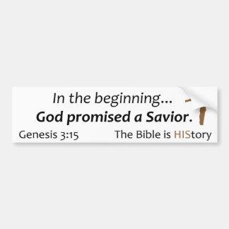 Bibeln är historia - scripturen, kor, brunt bildekal