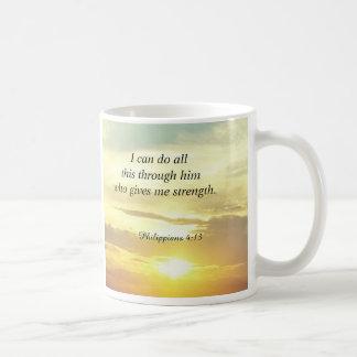 Bibeln citerar Philippians4:13muggen Vit Mugg