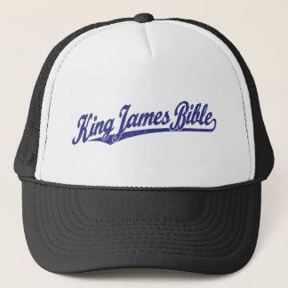 Bibeln för kungen James skrivar logotypen i Truckerkeps