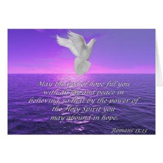 Bibeln för Romans15:13hopp citerar kortet Hälsningskort