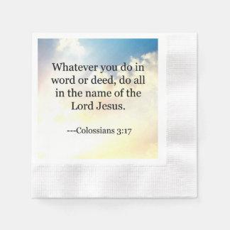 Bibelverse, Colossians 3-17 Pappersservetter