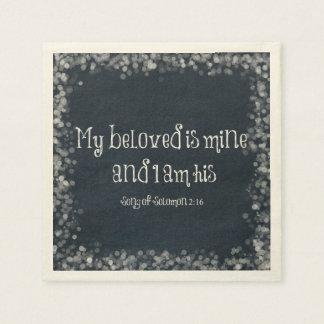 BibelVerse: Min älskling är den hans min och Papper Servetter