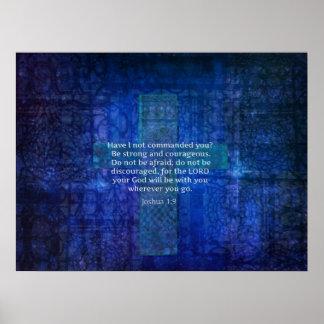 BibelVerse om styrkaKORKONST Poster