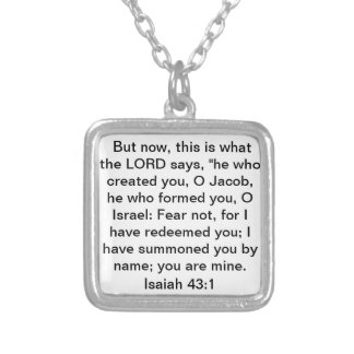 bibelverseIsaiah 43:1 Silverpläterat Halsband