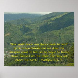 BibelVerseMatthew 5:1 - 2,5 Poster