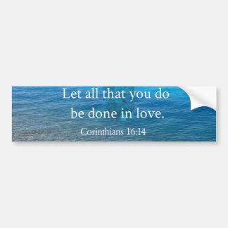 BIBELVERSEN - låt alla att du är gjort förälskat Bildekal