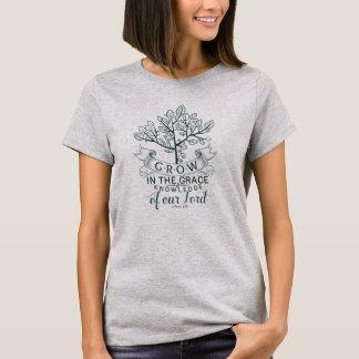 Bibelversen växer i nådkristenT-tröja T-shirts