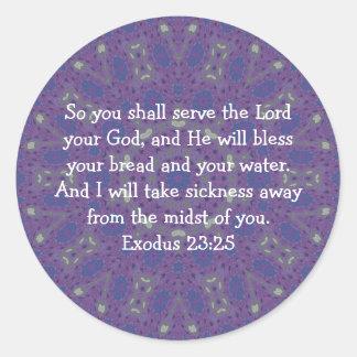 BibelVerses som läker 23:25 för Runt Klistermärke