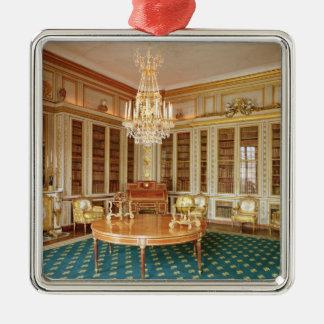 Bibliotek av Louis XVI dekorerade i 1781 Silverfärgad Fyrkantigt Julgransprydnad
